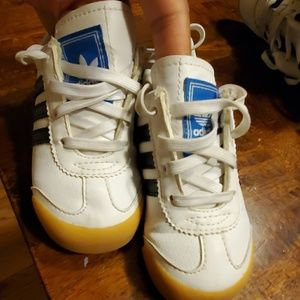 White blue Adidas somoa sneakers baby toddler 7C